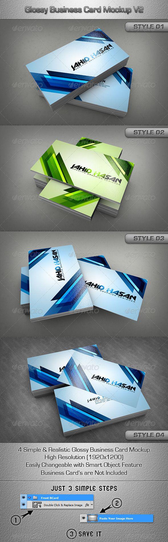 717 best business card mockup images on pinterest fonts glossy business card mockup v2 magicingreecefo Gallery