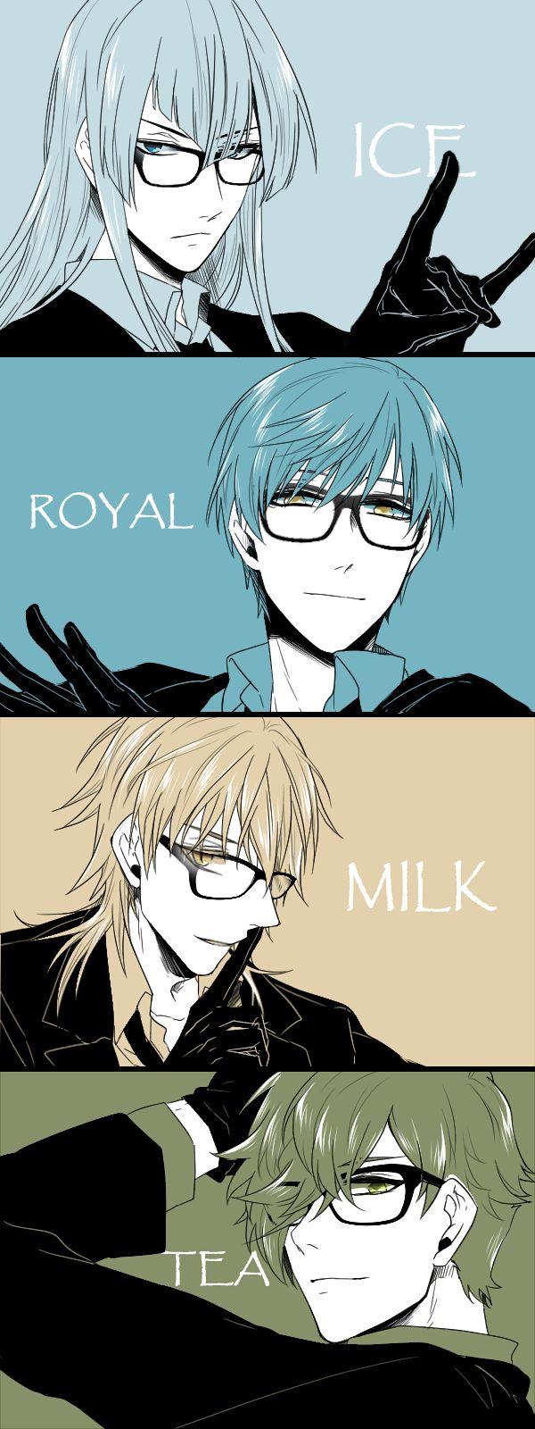 Touken Ranbu | TouRanbu | Ice-Royal-Milk-Tea ( ´ ▽ ` )ノ | Kousetsu Samonji | Tsurumaru Kuninaga | Ichigo Hitofuri | Uguisumaru | rarity swords | glasses