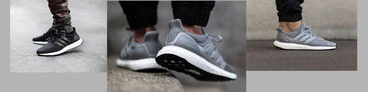 Martha Sneakers Ultra Boost  Silver Gray White Black - yeezygather.com