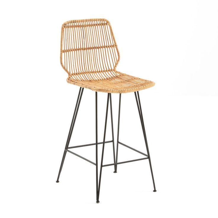 Chaise De Bar Mi Hauteur En Kubu Malu Taille Taille Unique En 2020 Tabouret Haut Tabouret Et Meuble Haut Cuisine