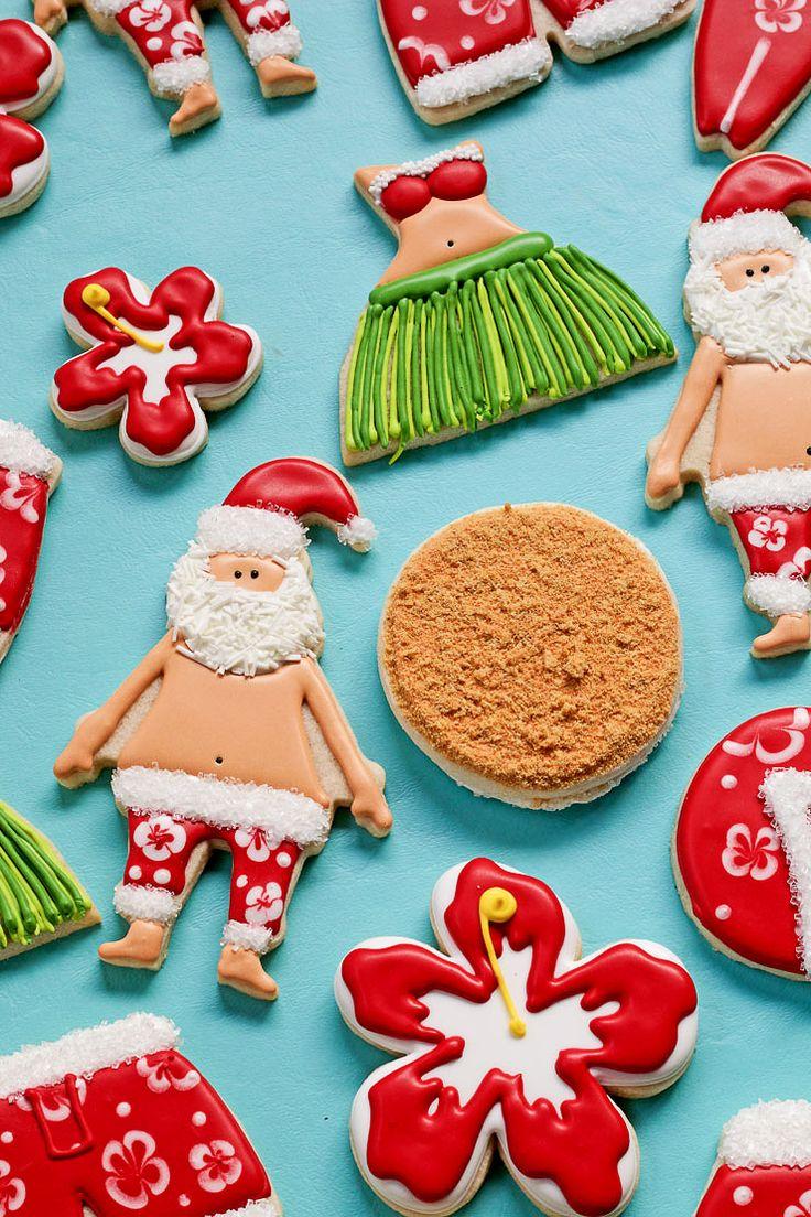 How to make christmas sugar cookies - How To Make Mele Kalikimaka Cookies With Video