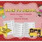 Math Journal Prompts for Second Grade: Back to School (Common Core Based). $4. This set of math journal prompts covers ALL 26 of the Common Core Standards for second grade math.  There is at least 1 prompt for each standard, w...