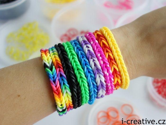 jak udělat náramky z gumiček loom bands
