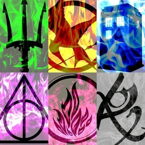 Percy Jackson, Hunger Games, Doctor Who, Harry Potter , Divergent, Mortal Instruments
