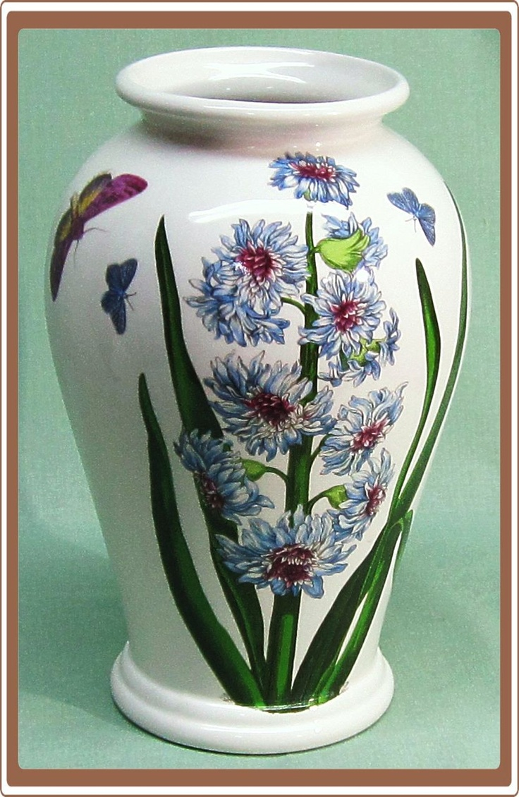 Vintage Portmeirion Botanic Garden Vase Blue Flowers And