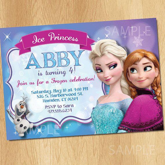 Frozen Invitation - Frozen Birthday Invitation - Disney Frozen Party Invites - Birthday Party Ideas Printable Elsa Anna Olaf, $7.99