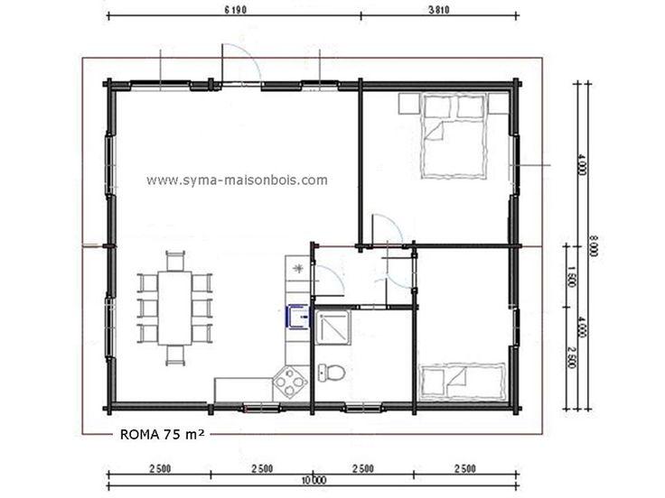 les 7 meilleures images propos de variation de styles autour d 39 un plan de maison rectangulaire. Black Bedroom Furniture Sets. Home Design Ideas