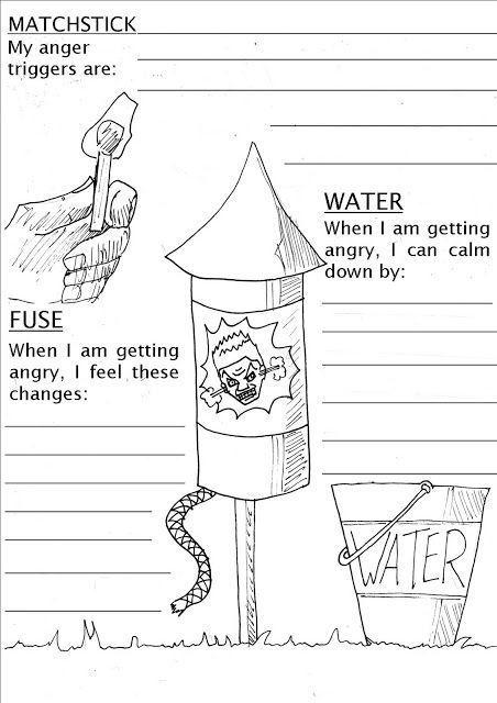 Anger Management Worksheets For Teens Pshe Lesson Sheet