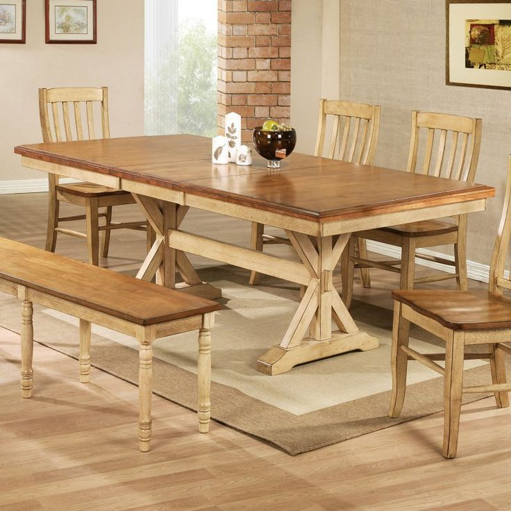 17 best ideas about trestle dining tables on pinterest for Trestle dining table plans