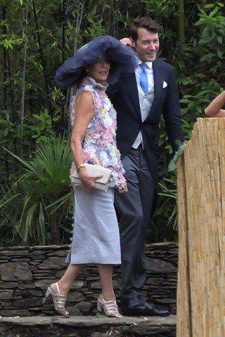 royalhats:  Religious Wedding of Pierre Casiraghi and Beatrice Borromeo, Lake Maggiore, Italy, August 1, 2015-Princess Caroline