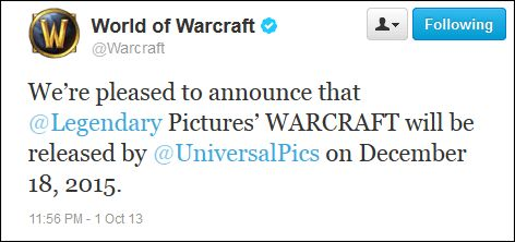 Warcraft movie release date announced ! Yay or Nay?