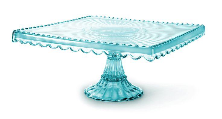 Loire Glass Square Cake Stand