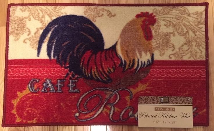 NWT COUNTRY ROOSTER OTTOMANSON KITCHEN RUG FLORAL DOOR MAT HOME DECOR 20x30 #Ottomanson #Country