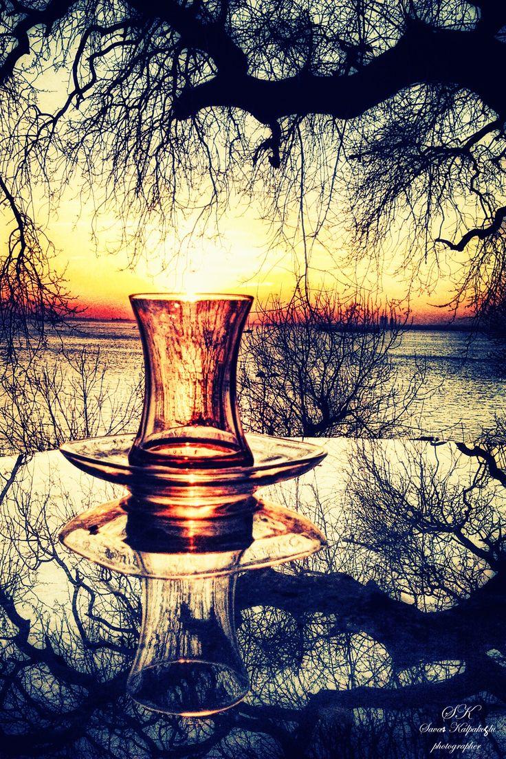 Çay Bardağı Yansıma by savASlan  on 500px