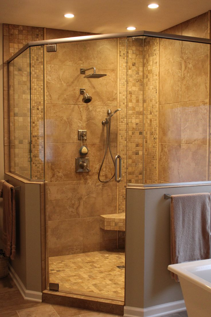 The tile shop design by kirsty georgian bathroom style - Custom Shower
