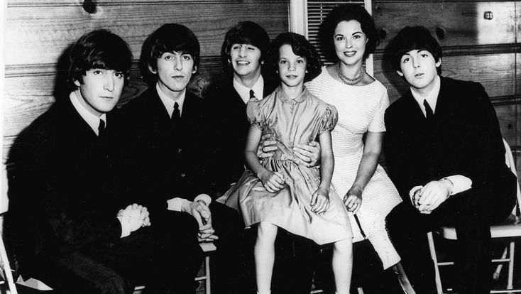 The Beatles with Shirley Temple Black and her daughter Lori Black