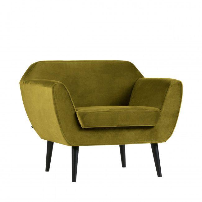Fauteuil En Velours Woood Rocco Fauteuil Velours Fauteuil Design Scandinave Et Mobilier Vert