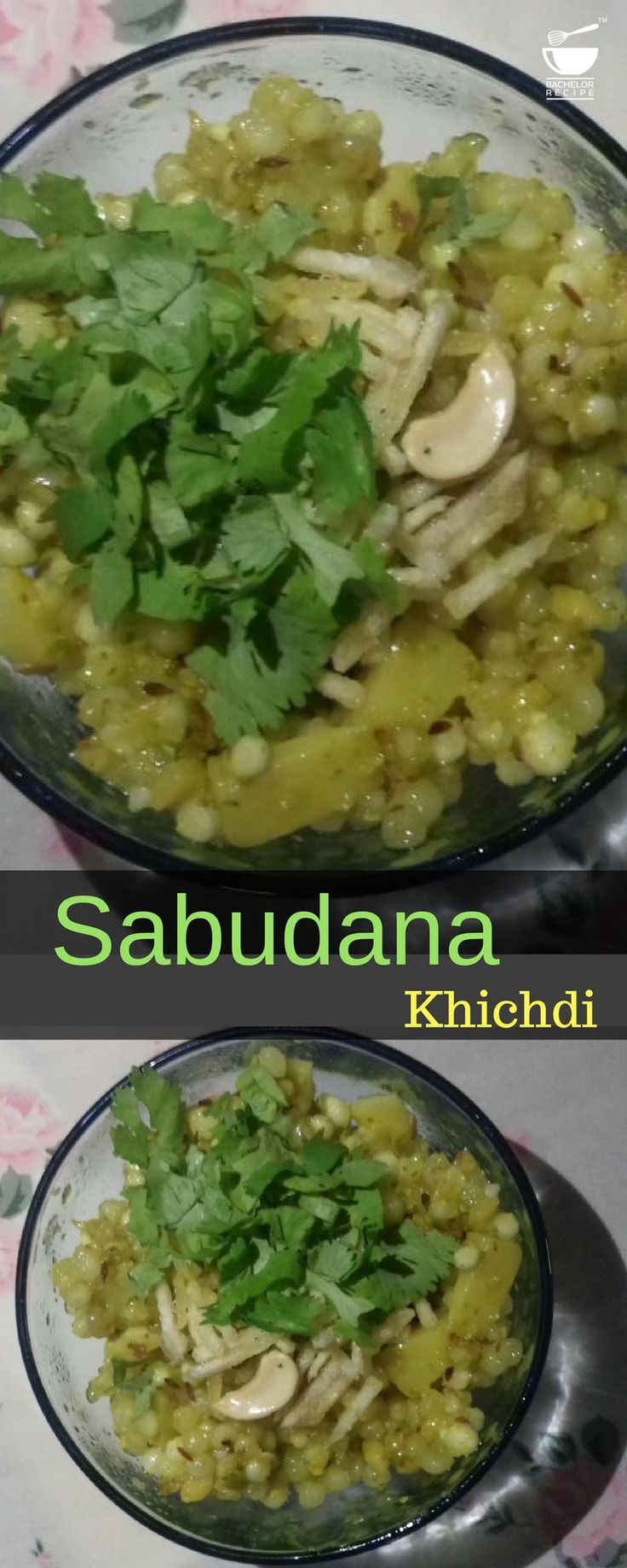 Absolutely delicious #khichdi made mostly during #fast, upvas, and vrat. Recipe with video and step by step images. - Bachelor Recipe. #easy #sabudana #recipeofteday
