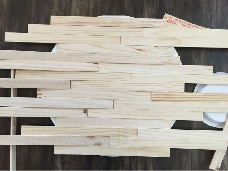 How to make a shiplap sign out of PAINT STIR STICKS!