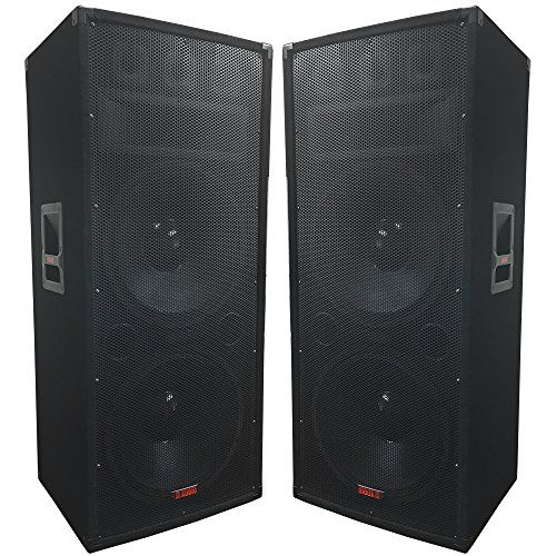 """A Pair of Dual 15"""" Speakers - 1500 Watts 3-way - Adkins Pro Audio - DJ Speaker - Great for parties and Weddings - http://djequipment.nationalsales.com/a-pair-of-dual-15-speakers-1500-watts-3-way-adkins-pro-audio-dj-speaker-great-for-parties-and-weddings/"""