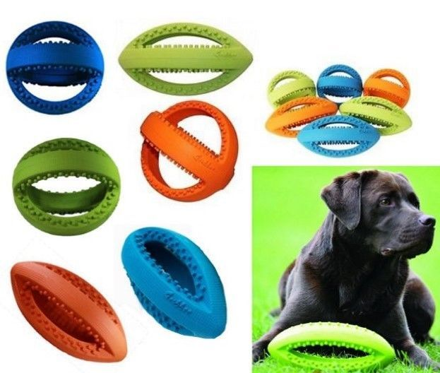 Details About Grubber Medium Heavy Duty Rubber Dog Toy Football