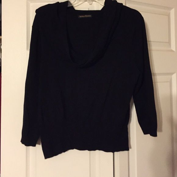 Black cow neck Black loose cow neck . Took size tag off due to scratchy Sydney Easton Sweaters Cowl & Turtlenecks
