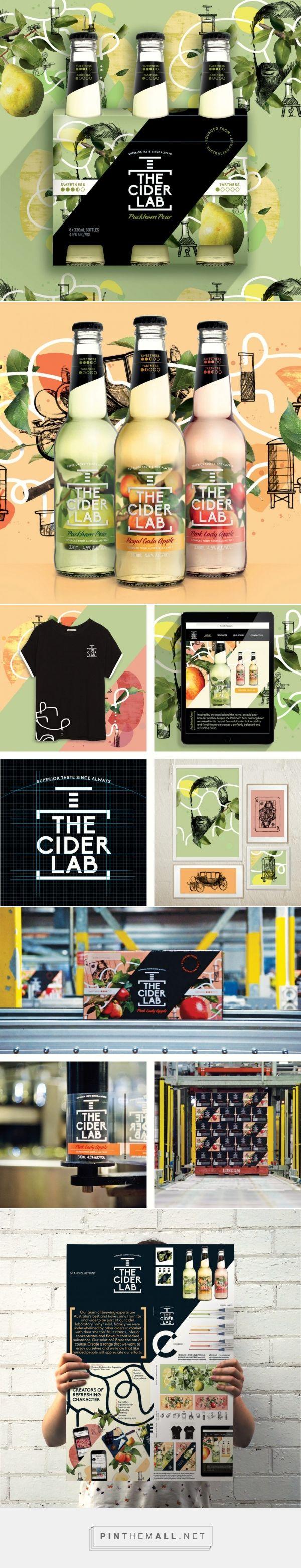 The Cider Lab Bebidas Branding y Packaging por Bonney creativo |  Agencia de Branding Fivestar - Diseño y la Agencia de Branding & Inspiration Gallery Curada