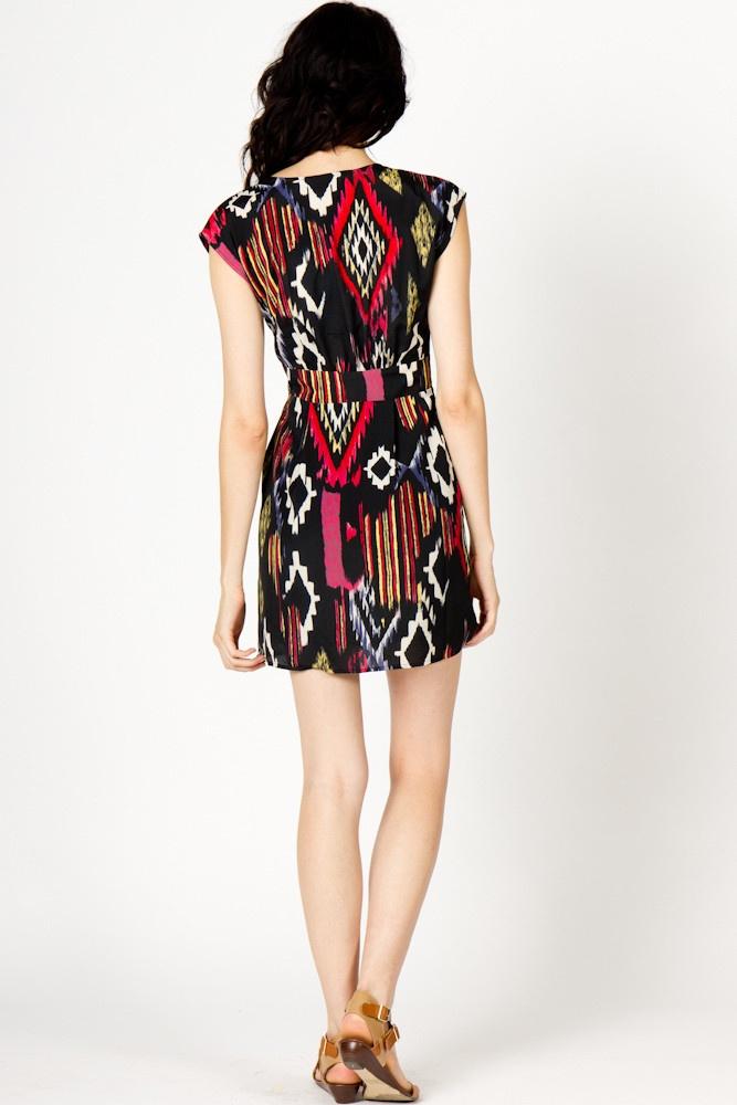Ikat Front Tie Dress | a-thread