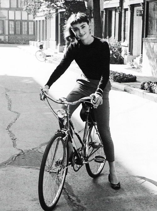 For Her Birthday: 12 Shots Of Audrey Hepburn On A Bike