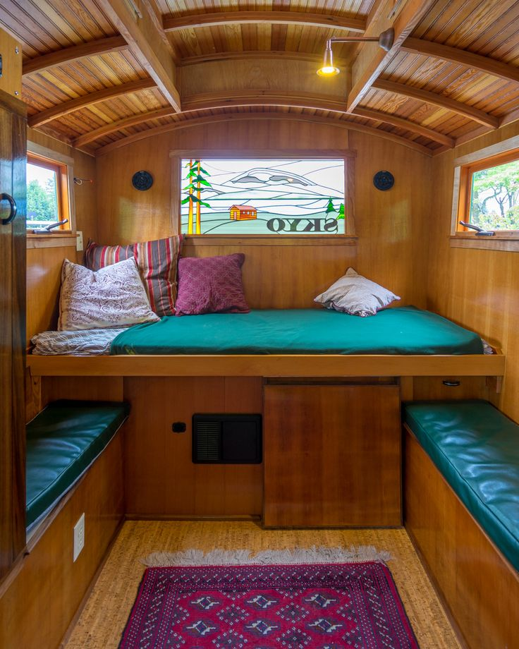 small camper interior design | Russ's Gypsy Wagon with Twin Bed
