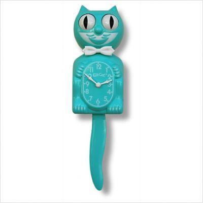 I love the vintage creepy cat clocks.