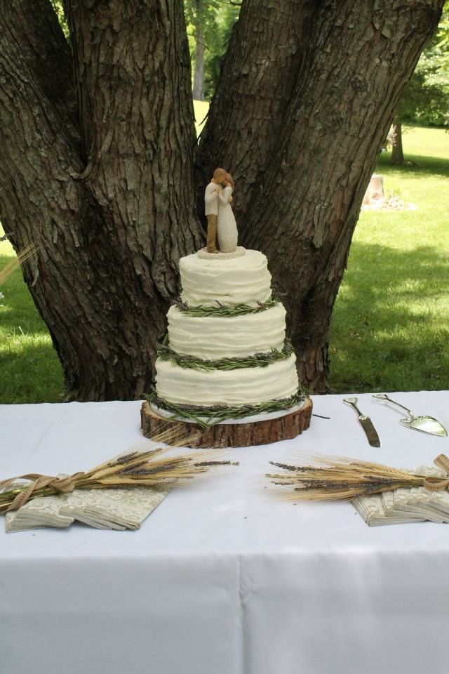 Willow Tree wedding cake topper - love!!