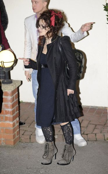Helena Bonham Carter Photos - Simon Cowell Leaves Fountain Studios - Zimbio