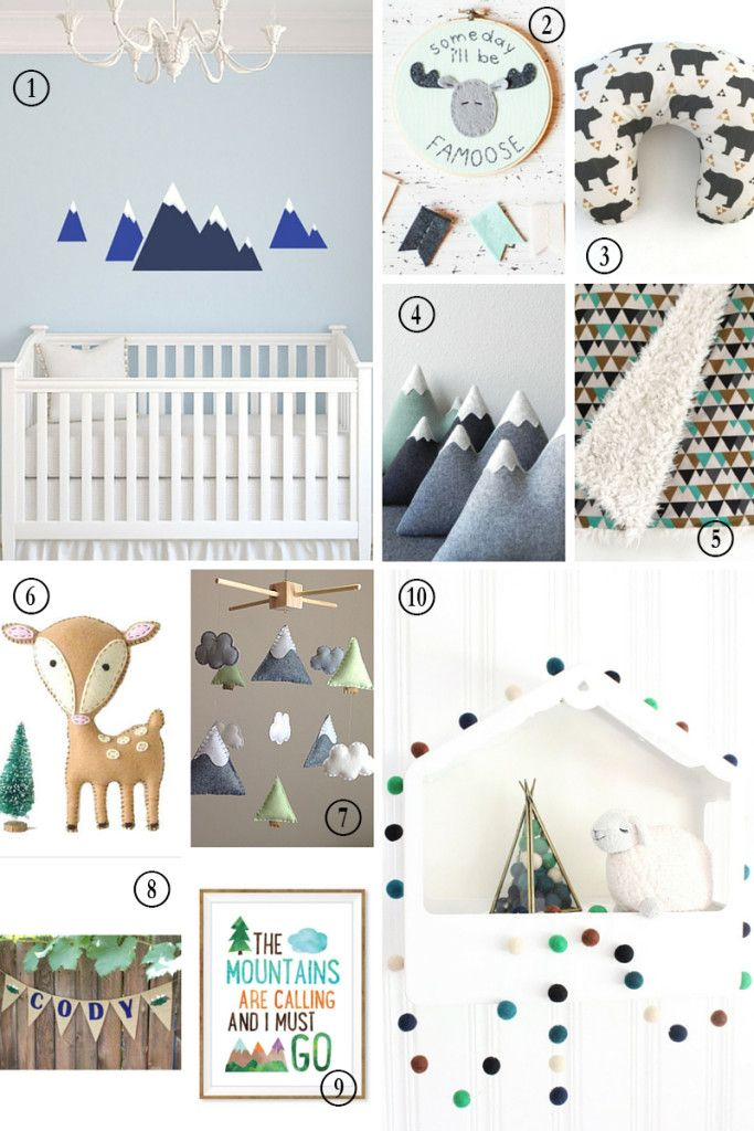 Etsy Finds : The Modern Mountain Nursery, Mountain Nursery, Colorado Nursery, Woodland Nursery