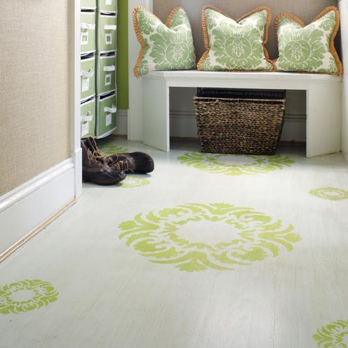 5 painted floor designs store pinterest floor design for Painting plywood floors ideas