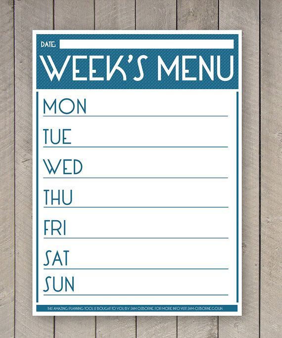 The 25+ best Family organizer binder ideas on Pinterest Bill - dinner menu templates free
