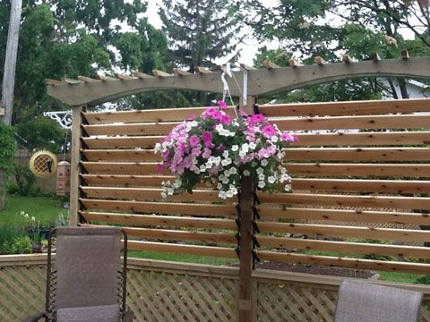 107 best back patio images on pinterest | patio fence, garden ... - Patio Fence Ideas