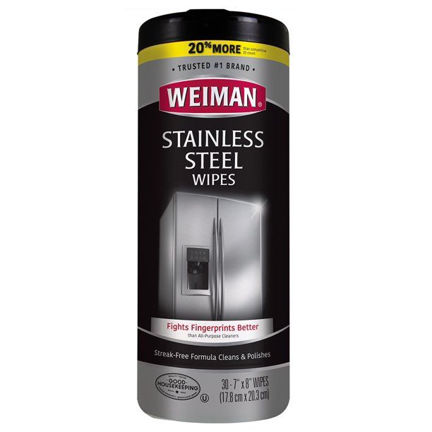 Weiman Stainless Steel Cleaner Wipes 30 Count In 2021 Stainless Steel Cleaner Weiman Stainless Steel Cleaner Cleaning Stainless Steel Appliances