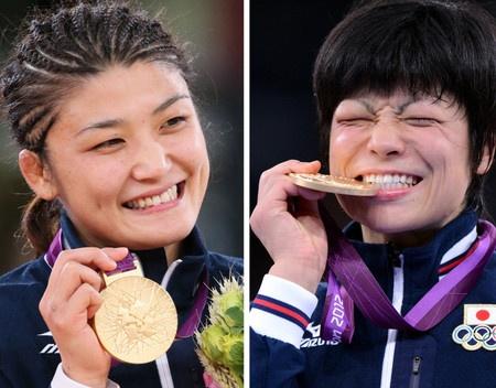 おめでとう<ロンドン五輪>伊調が3連覇 小原は初出場V レスリング女子