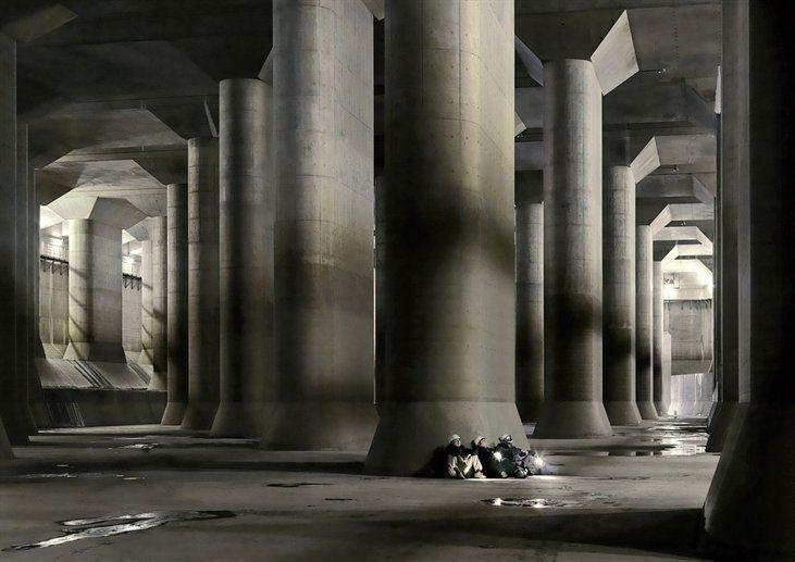 Underworld, shot in the subterranean caverns of Tokyo's storm sewage system.