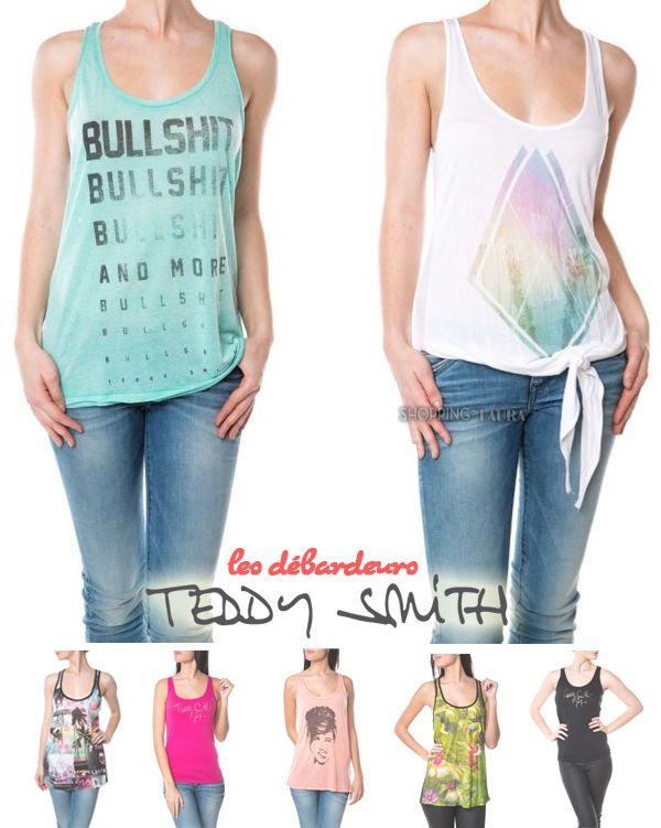 Dans sa collection printemps-été 2014, Teddy Smith propose un grand choix de débardeurs et de hauts style sportswear ou streetwear originaux et à des prix vraiment sympa !.. Ca mérite d'aller voir !