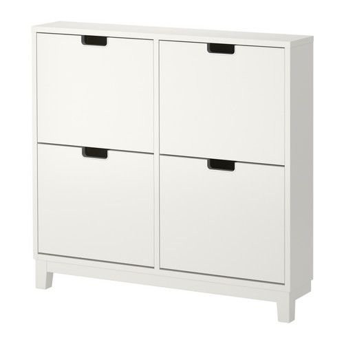 STÄLL Shoe cabinet with 4 compartments IKEA Helps you organize your shoes and saves floor space at the same time.