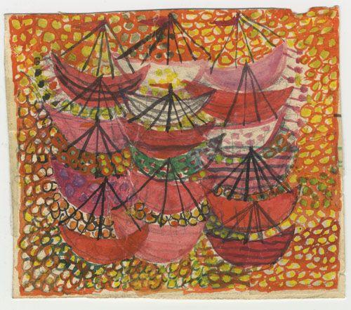 Tapestry design by artist Ann-Mari Fosberg, Sweden, 1955