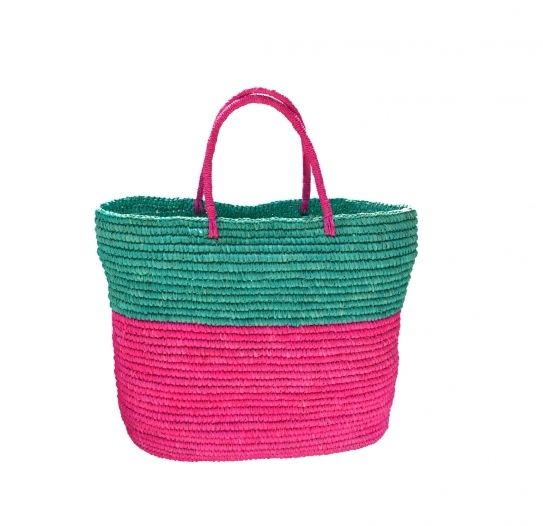 Watermelon Straw Tote by Prymal Crocheted Toquilla Straw 100% Handmade in Ecuador
