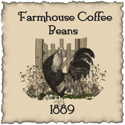 Printable rooster coffee label