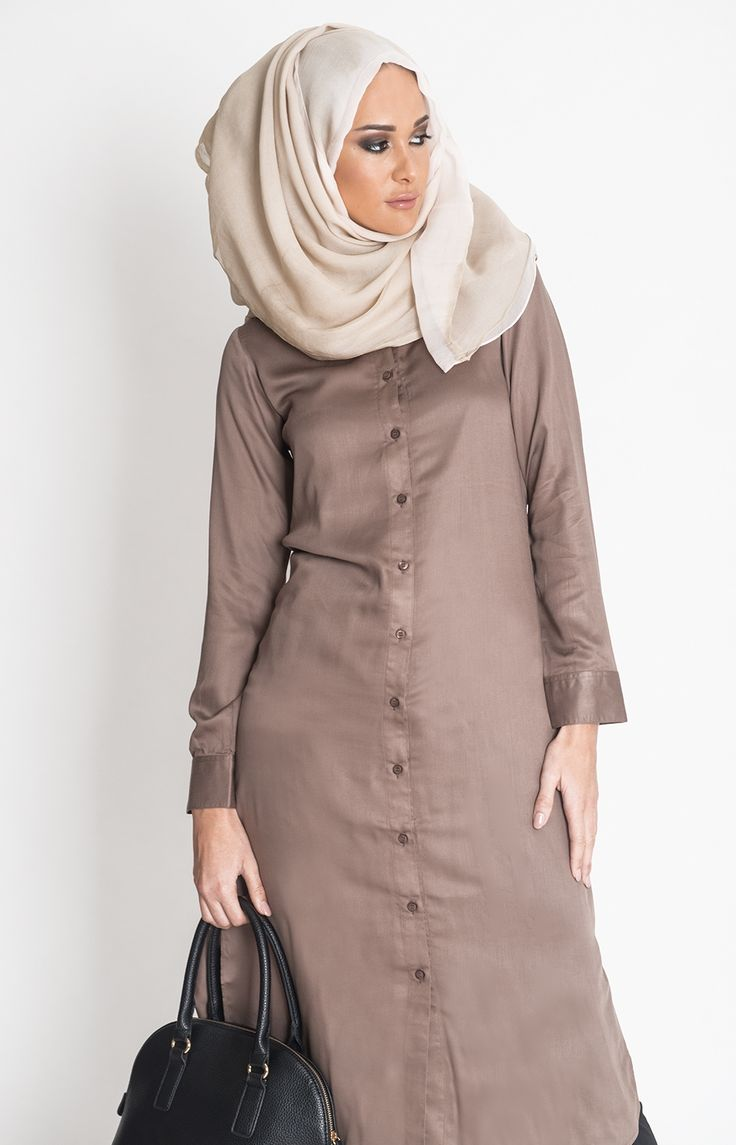 Coffee Shirt Dress #Aab #Style #Fashion #WomensWear #WomensFashion #Abaya #Hijab http://www.aabcollection.com/shop/product/coffee-shirt-dress/723#