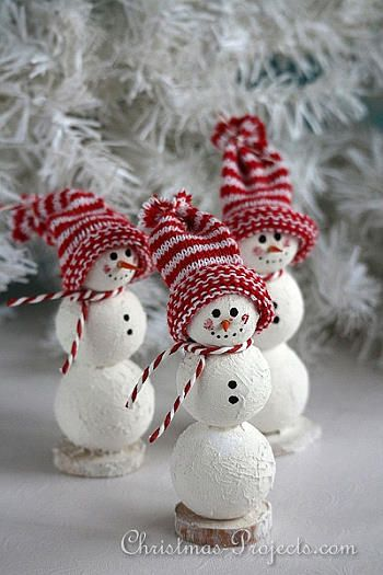 Snowman Craft for Christmas - Christmas Projects