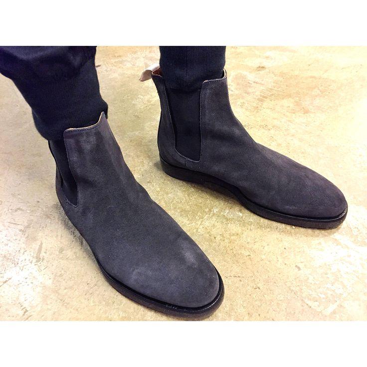 common projects Chelsea boots. menswear. designer. men's