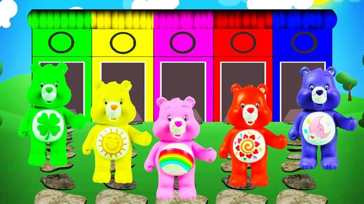 Learn Colors with Care Bears Finger Family Nursery Rhymes - Learn Colors...