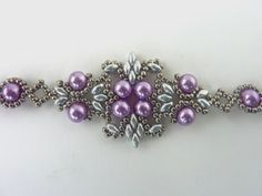 FREE beading pattern for Lotus Lace Bracelet ~ Seed Bead Tutorials